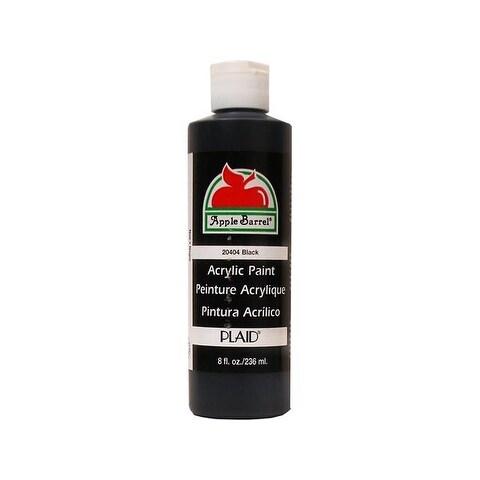 Plaid Apple Barrel Paint 8oz Black