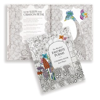 World of Favorite Poems Adult Coloring Book by Jane Heyes - MultiColor