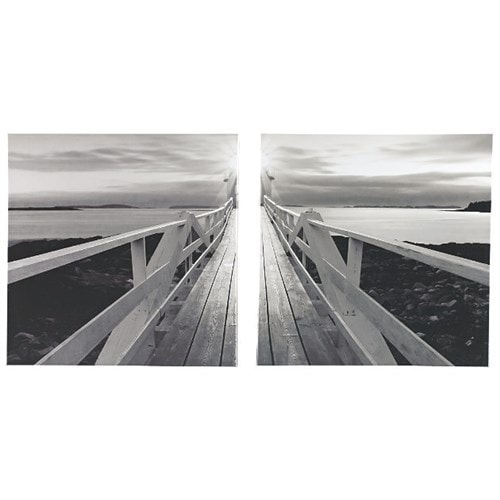 Beagan Black-White Wall Art Set A8000098 - Set of 2 Beagan Black/White Wall Art Set (Set Of 2)