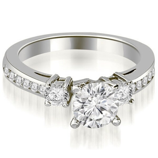 Diamond Ring 1 10 Ct Tw Round Cut 14k White Gold: Shop 1.10 CT.TW Round Cut Prong-Set Diamond Engagement