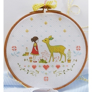 """Nature Girl Counted Cross Stitch Kit-8""""X8"""" 14 Count"""