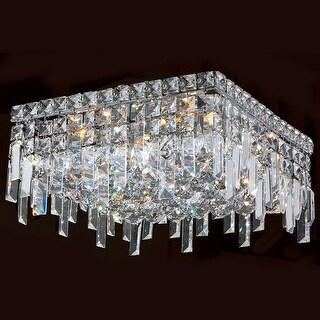 Worldwide Lighting W33617C14 Cascade 5 Light Flush Mount Ceiling Fixture - Chrome