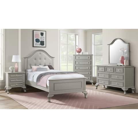 Picket House Furnishings Jenna Dresser & Mirror in Grey