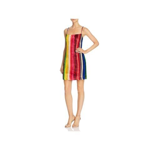 Milly Womens Party Dress Silk-Blend Velvet - Multi