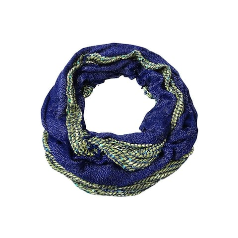 Collection Eighteen Women's Metallic Woven Infinity Scarf - One Size Fits Most