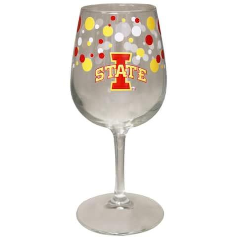 Iowa State Cyclones 12.75oz Polka Dot Wine Glass