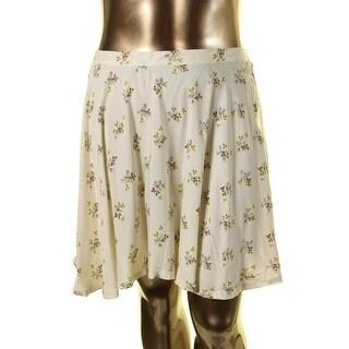 Denim & Supply Ralph Lauren Womens Viscose Floral Print Flare Skirt - XL
