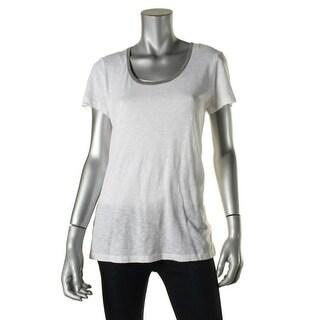 Stateside Womens Slub Contrast Trim T-Shirt - M