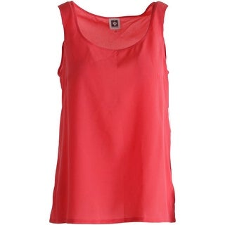 Anne Klein Womens Scoop Neck Lightweight Tank Top