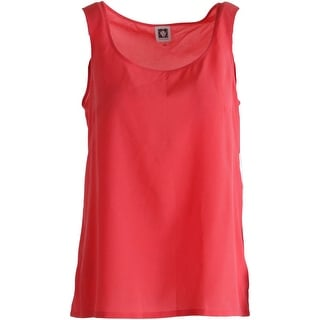 Anne Klein Womens Scoop Neck Lightweight Tank Top - 16