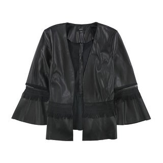 Link to Alfani Womens Lace Inset Faux-Leather Jacket, black, Medium Similar Items in Women's Outerwear