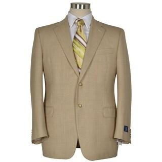 Joseph Abbout Signature Tan Wool Sportcoat 44 Regular 44R Blazer 2-Buttons