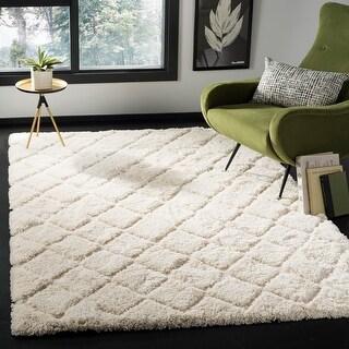 Link to Safavieh Adriana Shag Daisie Shag Trellis Polyester Rug Similar Items in Shag Rugs