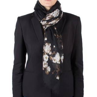 Givenchy Women's Floral Pattern Cashmere Scarf Large
