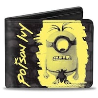 All Natural Minion Pose Poison Ivy Grays Yellow Bi Fold Wallet - One Size Fits most