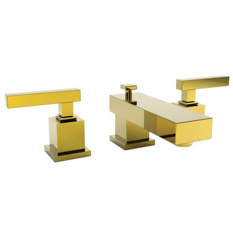 Newport Brass 2020 Cube 2 Double Handle Widspread Lavatory Faucet with Metal Lever Handles