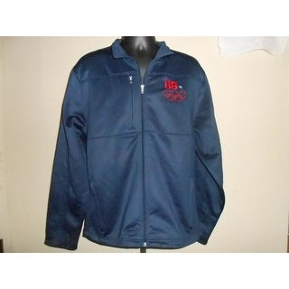 Flaw- Team USA Olympics Adult Large (L) Navy Blue Zip Front Jacket