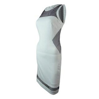 Laundry Women's Mesh Crepe Dress - optic white multi