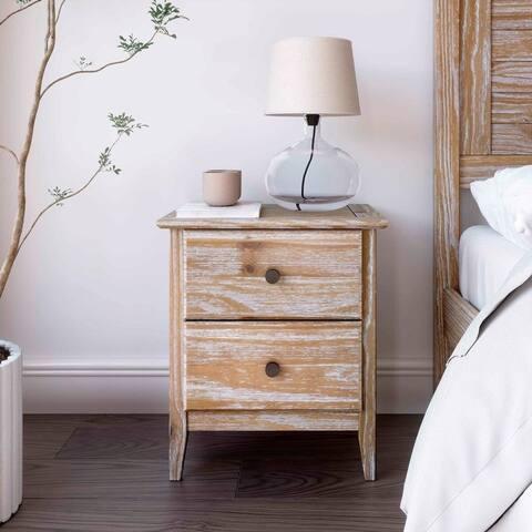 Grain Wood Furniture Greenport 2 Drawer Nightstand