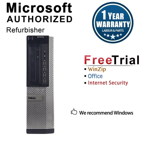 Dell OptiPlex 790 Desktop Computer Intel Core I5 2400 3.1G 8GB DDR3 1TB Windows 10 Pro 1 Year Warranty (Refurbished) - Black