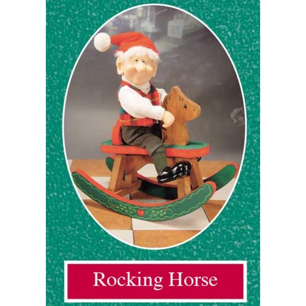 """9.5"""" Zims The Elves Themselves Rocking Horse Collectible Christmas Figure - multi"""