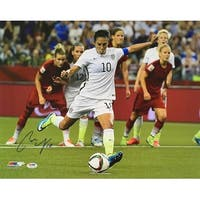 Carli Lloyd USA Soccer Signed 16x20 2015 World Cup Kick Photo PSA
