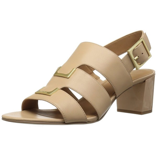 Calvin Klein Womens Neda Leather Open Toe Casual Strappy Sandals