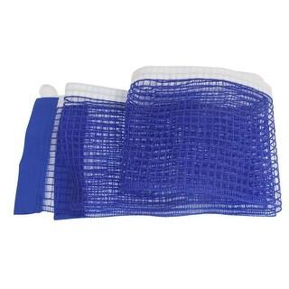 """Unique Bargains 70.9"""" x 5.6"""" Portable Meshy Braided Nylon Table Tennis Net Blue"""