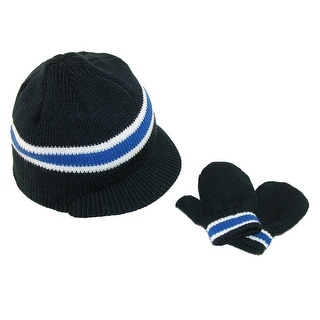 Grand Sierra Boys' 2-4 Radar Visor Hat and Stretch Mittens Winter Set - One Size