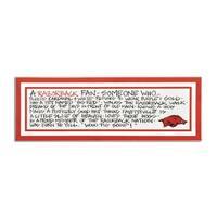 University of Arkansas Definition of a Fan Wooden Plaque