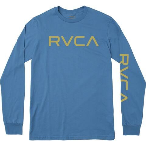 RVCA Big RVCA Standard Fit 100% Cotton Long Sleeve T-Shirt - Cobalt