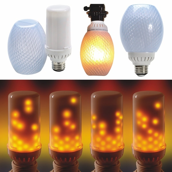 Set of 2 flamewave flickering flame led bulb top mount runs top set of 2 flamewave flickering flame led bulb top mount runs top to bottom mozeypictures Choice Image