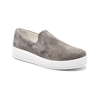 Womens Prada Grey Suede Slip on Skater Sneakers Size 36.5 / 6.5
