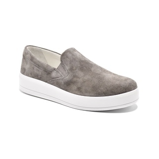 Womens Prada Grey Suede Slip on Skater Sneakers Size 38.5 / 8.5