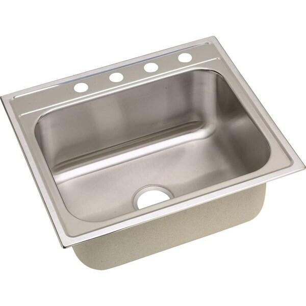 elkay dpc1252210 dayton 25 single basin drop in stainless steel kitchen sink - Drop In Stainless Steel Kitchen Sinks