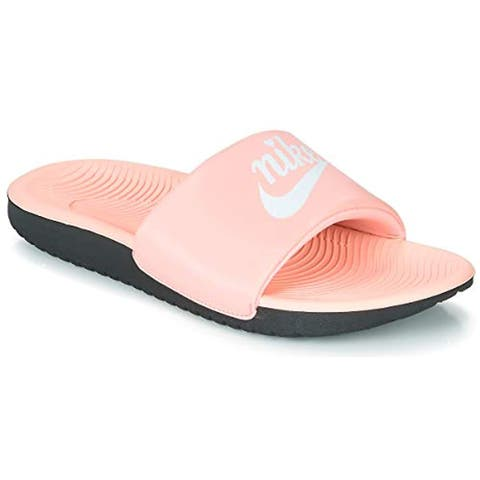 Nike Kids Girl's Kawa Slide (Little Kid/Big Kid) Bleached Coral/White/Black 1 M US Little Kid