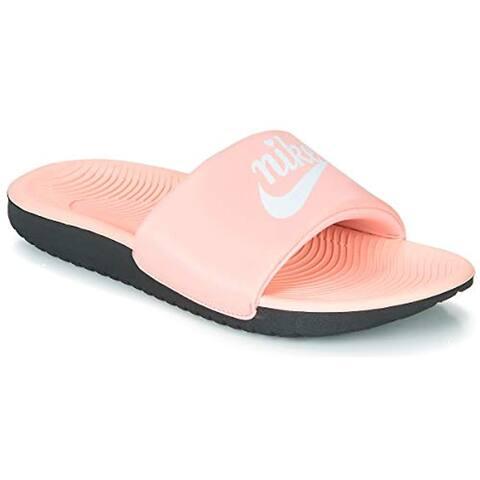 Nike Kids Girl's Kawa Slide (Little Kid/Big Kid) Bleached Coral/White/Black 5 M US Big Kid