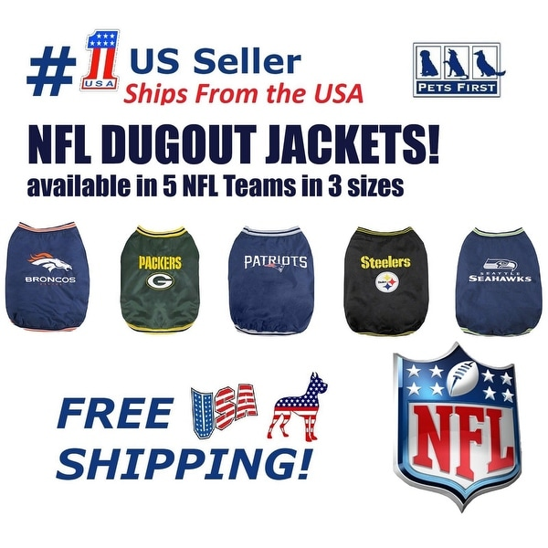 62dd5b8dfec Pets First NFL Dugout Warm Jacket for Dogs & Cats - Licensed. 5 Football