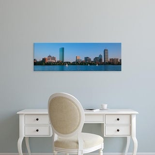 Easy Art Prints Panoramic Image 'Buildings at the waterfront, Back Bay, Boston, Massachusetts, USA' Premium Canvas Art