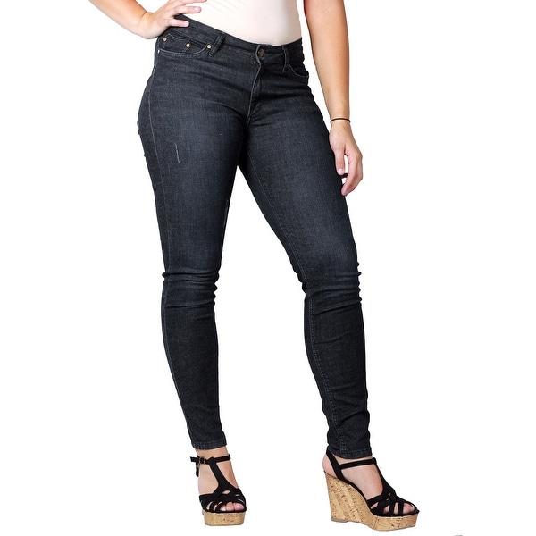 ODYN Misses Dark Rinse Skinny Spandex Denim Fashion Jeans