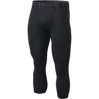 Tesla MUC08 Cool Dry Baselayer 3/4-Length Compression Tights - Black/Black
