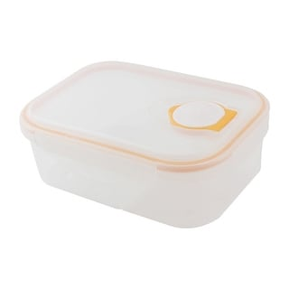 Unique Bargains Microwave 2 Slots Brnto Lunch Dinner Food Soup Box Container Clear Orange