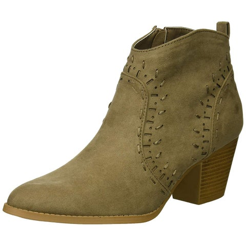 Qupid Womens morrison 21 Closed Toe Ankle Fashion Boots