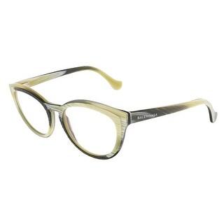 Balenciaga BA5031/V 064 Yellow Black Horn Oval prescription-eyewear-frames - yellow black horn - 52-18-140