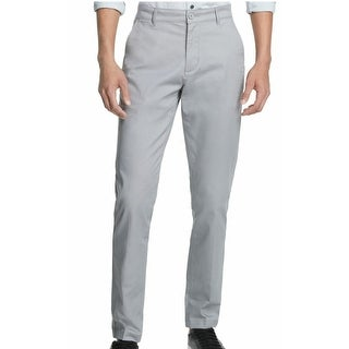 Link to DKNY Mens Chino Pants Gray Size 40x30 Straight-Fit Tapered Leg Stretch Similar Items in Big & Tall