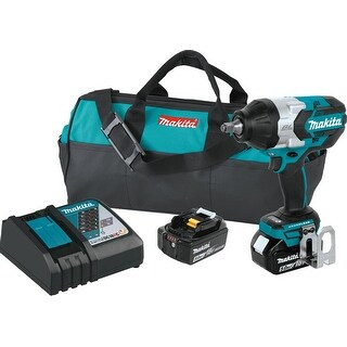 "Makita 18V LXT® Li-Ion Brushless Cordless High Torque 1/2"" Sq. Drive Impact Wrench Kit w/ Friction Ring"