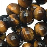 Tiger Eye Gemstone Beads Grade AA, 6mm Round, 15.5 Inch Strand, Brown