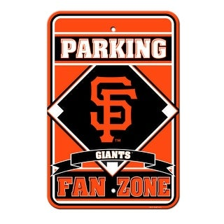 Fremont Die Inc San Francisco Giants Plastic Parking Sign Parking Sign