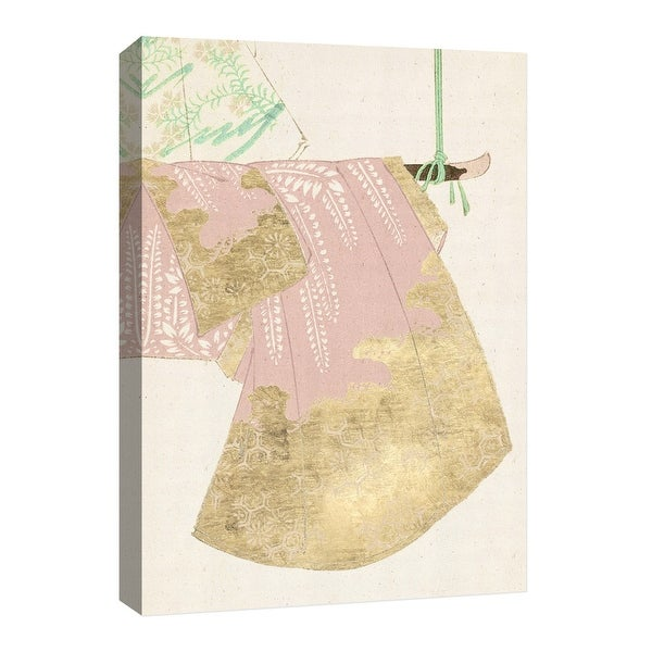 """PTM Images 9-126684 PTM Canvas Collection 8"""" x 10"""" - """"Gold Kimono II"""" Giclee Japanese Art Print on Canvas"""