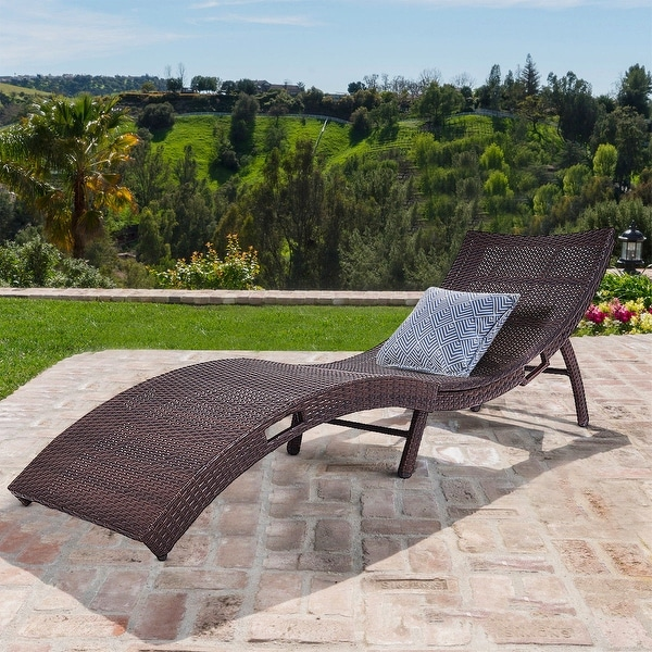Costway Mix Brown Folding Patio Rattan Chaise Lounge Chair Outdoor  Furniture Pool Side   Mix Brown